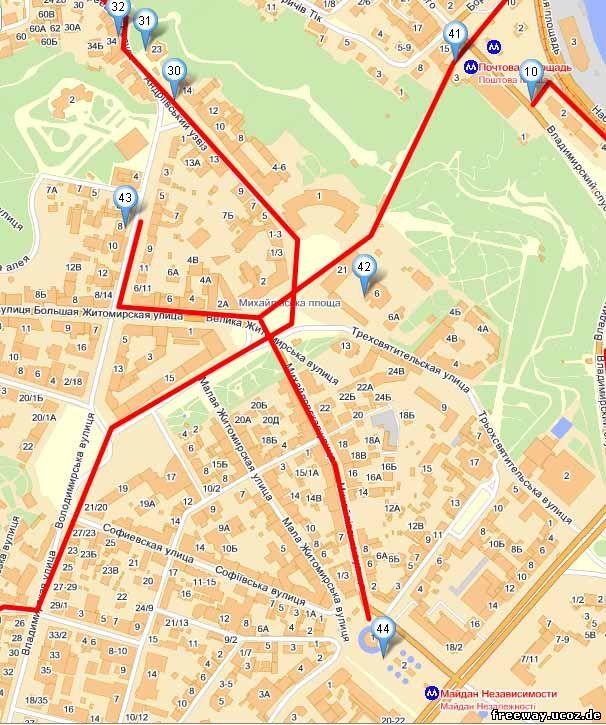 карта Киева 6