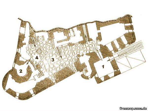 План 1 этажа замка Bran