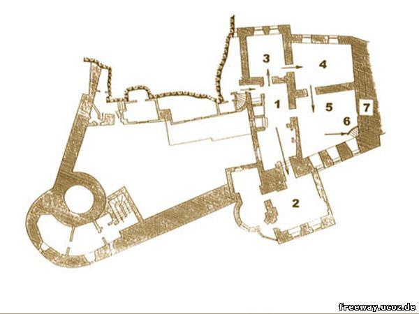 План 2 этажа замка Bran