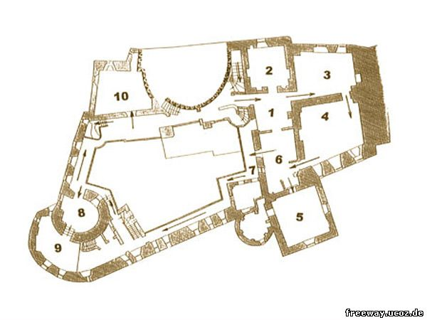 План 3 этажа замка Bran