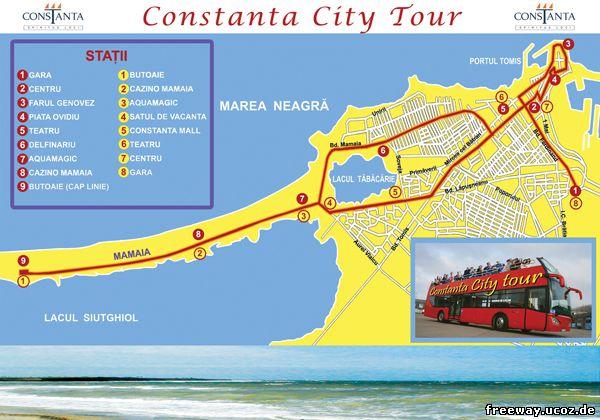 Маршрут автобуса «Constanta City Tour»(для просмотра изображения в полном размере, нажмите на картинку)