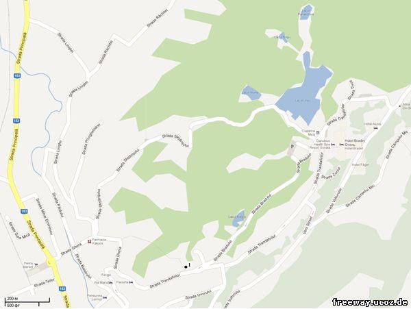Карта курорта Sovata. Цифрой 1 обозначен автовокзал (для просмотра изображения в полном размере, нажмите на картинку)