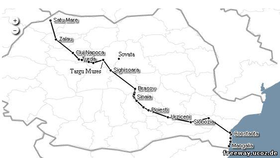 Автобусный маршрут «Mangalia - Cluj Napoca – Satu Mare»