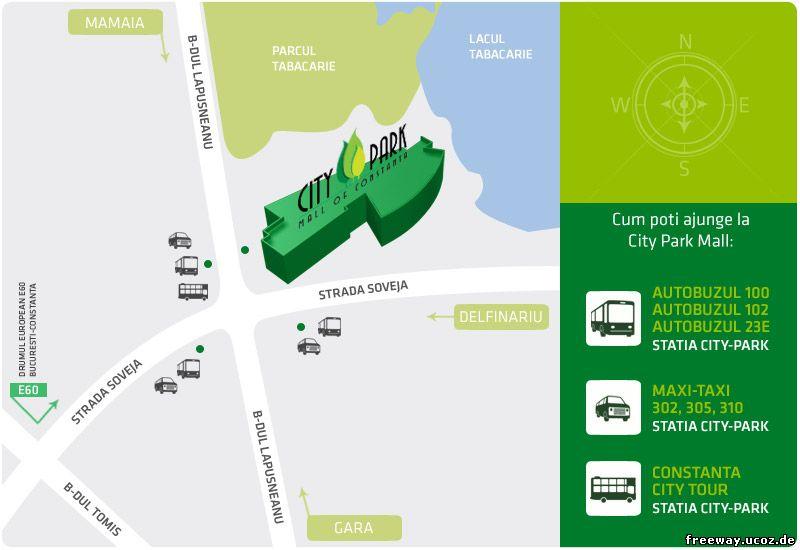 Карта расположения ТЦ City Park