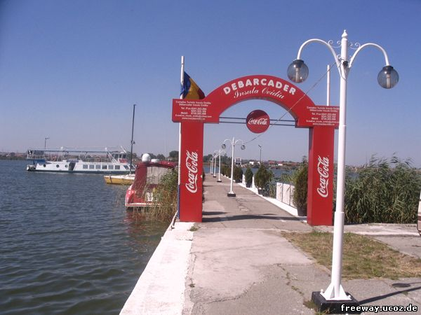 Пристань на берегу озера Siutghiol.