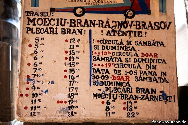 Расписание автобусов из поселка Bran