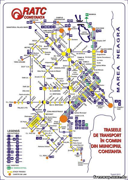 Схема автобусных маршрутов г. Constsnta (для просмотра изображения в полном размере, нажмите на картинку)