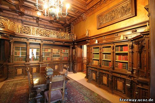 Замок Peles. Королевская библиотека (Biblioteca regala)